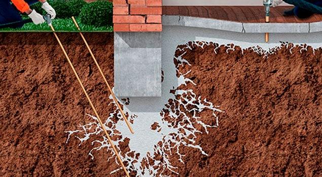 Tratamiento contra las humedades por filtración de agua a través de la pared